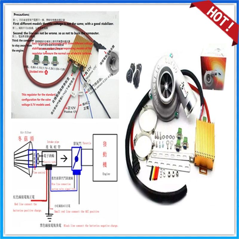Universele Elektrische Turbo Supercharger Kit Stuwkracht Motor Elektrische Turbocompressor Luchtfilter Intake Voor Alle Auto Verbeteren Snelheid