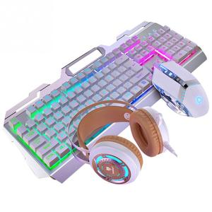 Image 2 - LED Backlight Portable Computer Game Home Universal Office Work For Laptop Gaming Keyboard Mouse Set Durable PC USB Wired