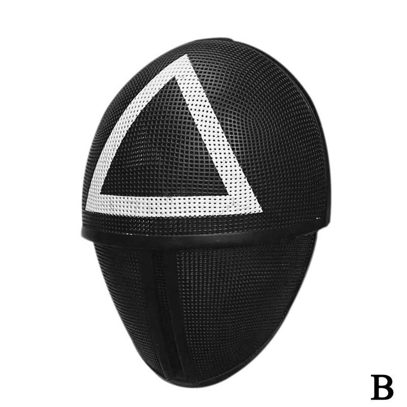 Jogo de lulas cosplay máscara círculo quadrado
