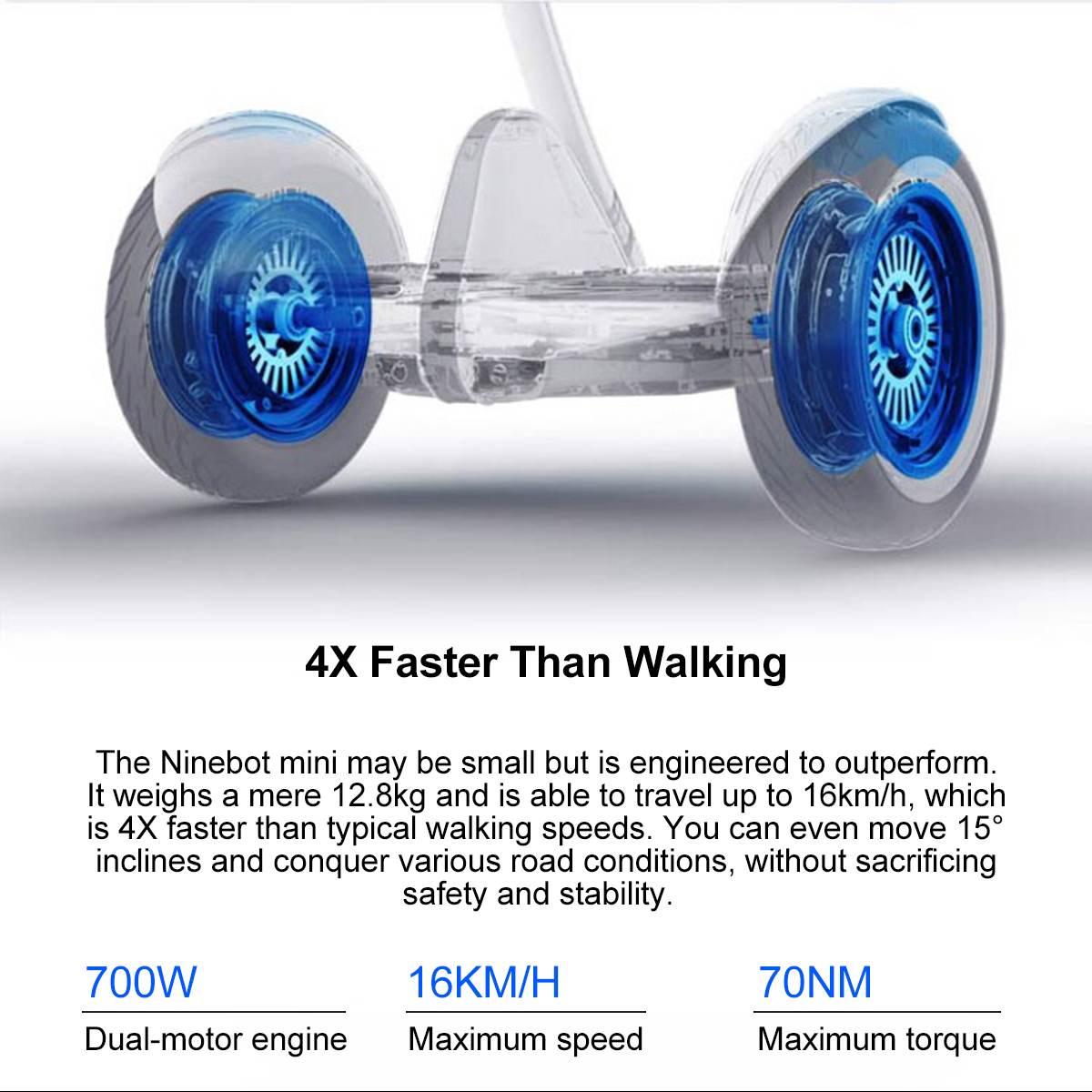 Оригинальный Xiaomi mini Ninebot умный самобалансирующийся электрический скутер двухколесный Скейтборд 10 дюймов - 4