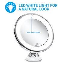 Led зеркало для макияжа освещенное зеркало для макияжа увеличительное зеркало 10X зеркало для макияжа косметическое зеркало с led подсветкой