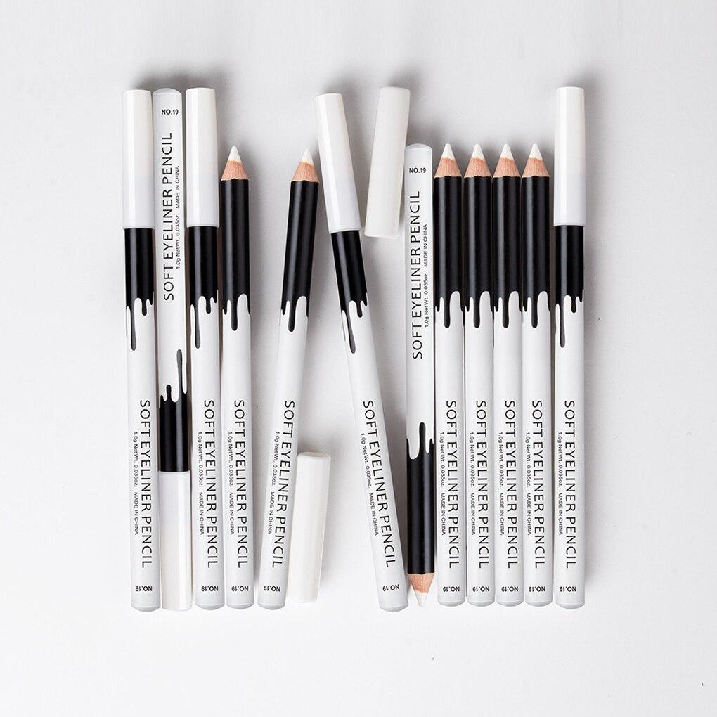 1/2/3 pçs lápis delineador maquiagem feminina longa duração à prova dwaterproof água pigmento olho forro branco delineador caneta cosméticos novo