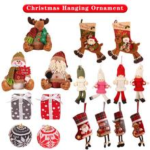 Christmas Hanging Ornament Tree Decorations Santa Claus Snowman Toy Doll Hang Party For Hom
