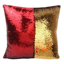Impermeable VR decoloración Magic Pillow dos tonos Glitter lentejuelas almohadas decorativo cojín funda Coverseqnr(China)