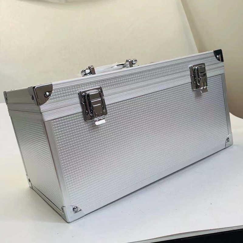 Ящик для инструментов из алюминиевого сплава чемодан инструмент коробка оборудование коробка для файлов защитный ящик для оборудования с предварительно вырезанной губкой 300x170x160 мм
