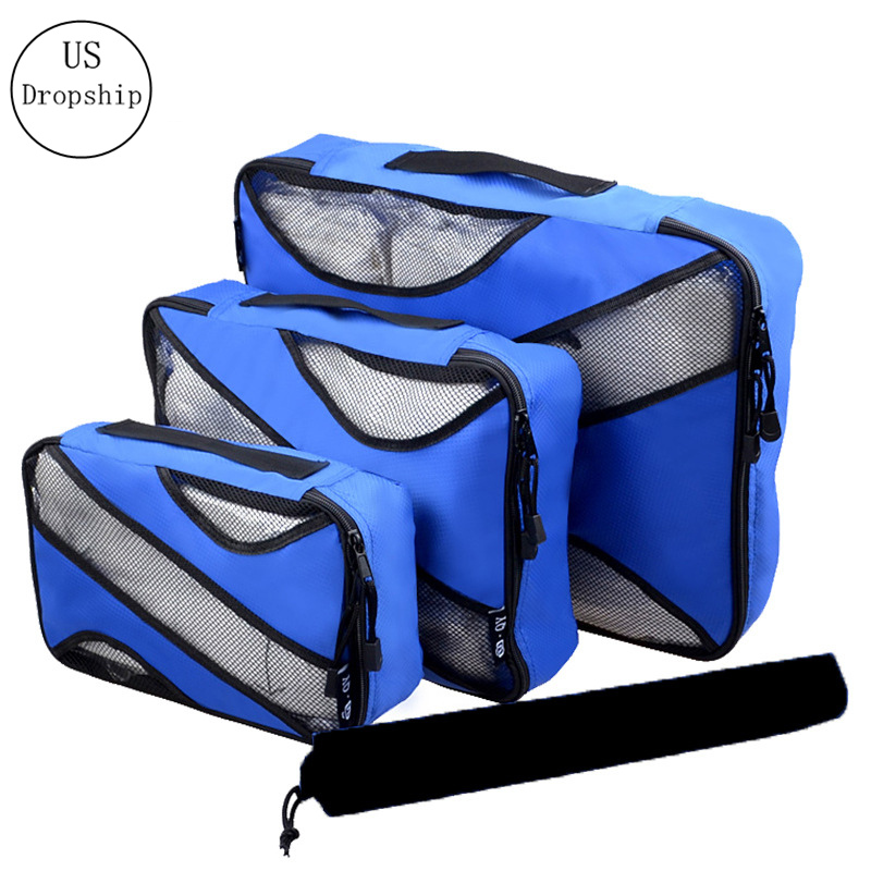 New 3Pcs/Set Home Travel Storage Bag For Clothing Large Capacity Luggage Sorting Organizer Travel Accessories Finishing Package