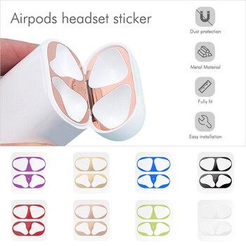 Autocollant anti-poussière anti-rayures pour AirPods 1 2 autocollant anti-poussière Film de protection pour écouteurs pour Apple AirPods 2 1 autocollants de couverture