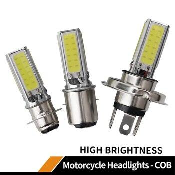 цена на 1pcs Super Bright Motorcycle Headlight LED bulbs H4 P15D BA20D COB 20W Led Fog Lamp Daytime Running Light DRL high quality white