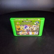 2G puce chaude sauver 200 en 1 carte de jeu pour Sega Megadrive Genesis avec Force brillante II Castlevania Musha Sonic le hérisson 3