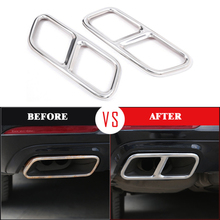 Yubao Silver Exhaust Muffler Pipe Tip Tailpipe Cover Trim Covers For Mercedes Benz R W251 GL X156 S W221 W222 C217 A217