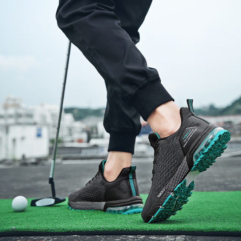 2020 New Brand Breathable Training Golf Shoes For Men Outdoor Grass Anti Slip Professional Golf Sneakers Mens Athletic Shoes