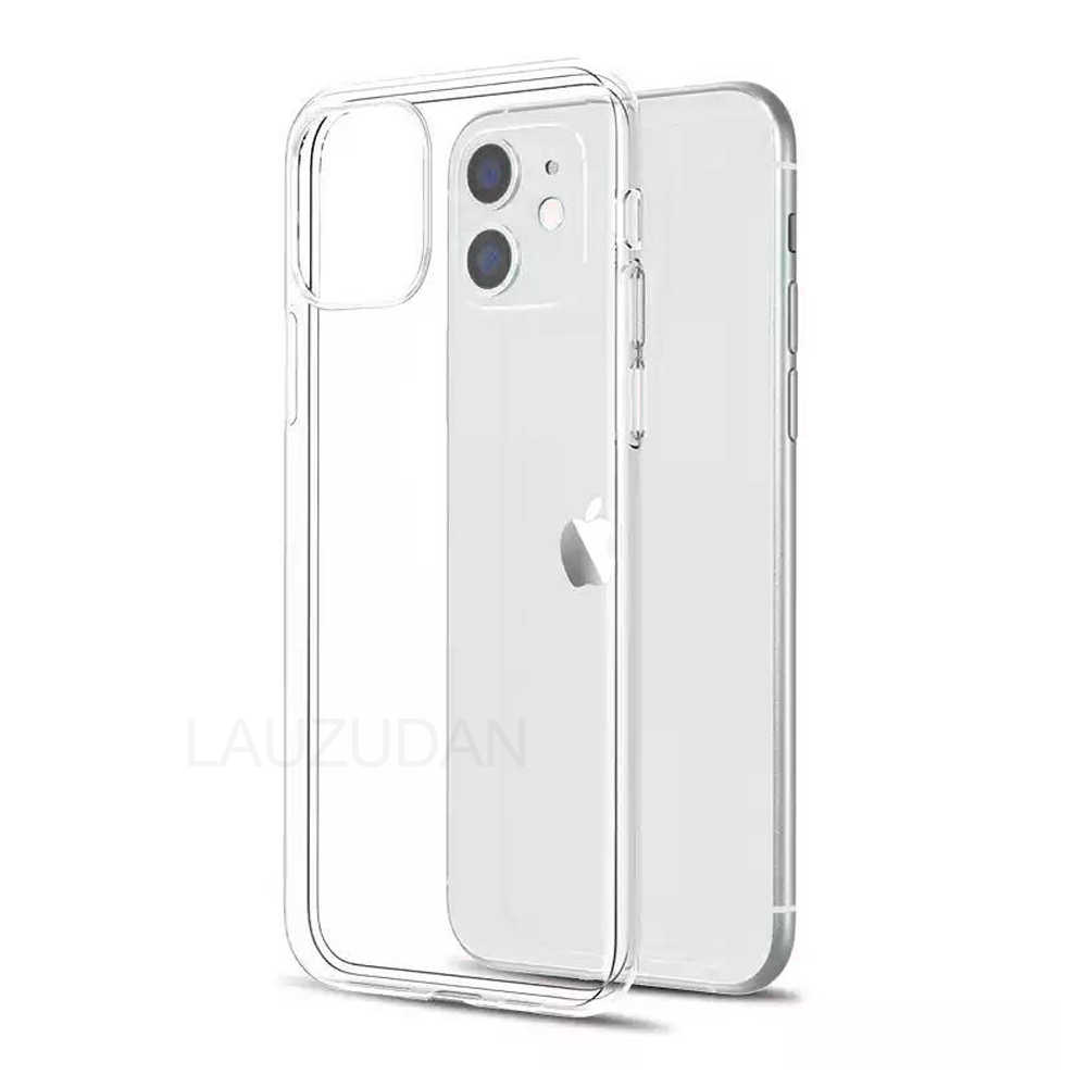 Funda de teléfono transparente para iPhone 7, funda de iPhone XR, funda de silicona blanda para iPhone 11 Pro XS Max X 8 7 6 s Plus 5 5s, nueva funda SE 9