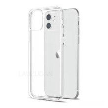 Coque de téléphone transparente pour iPhone 7 coque iPhone XR coque souple en silicone pour iPhone 11 12 Pro Mini XS Max X 8 7 6s Plus 5 5s SE