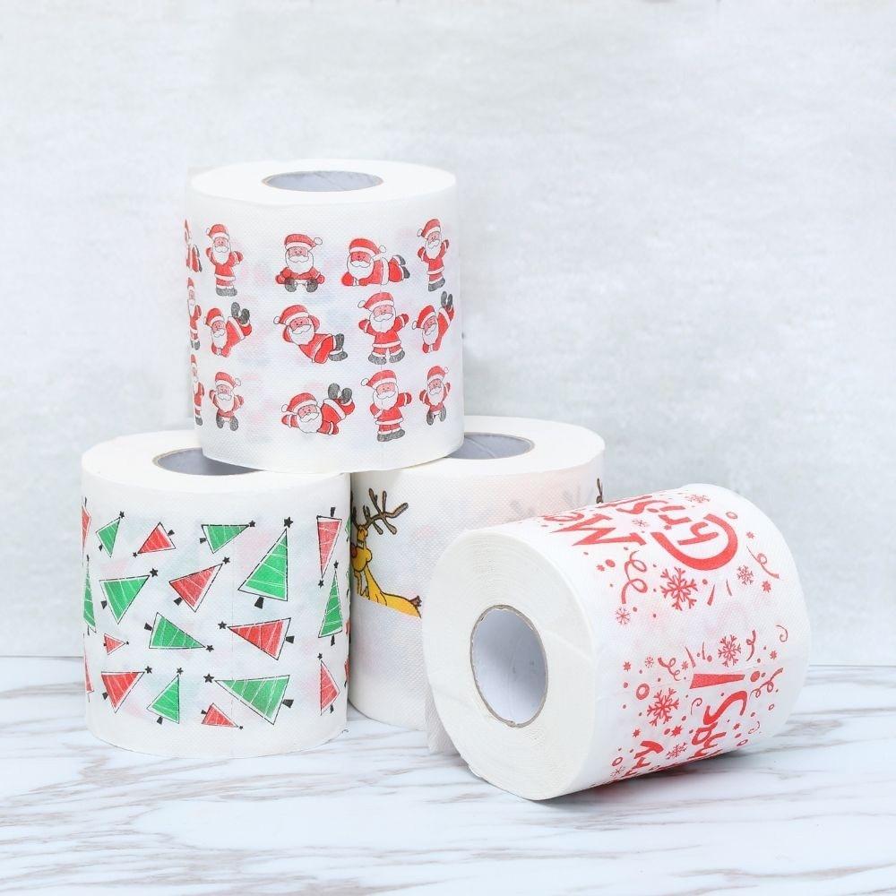 3 Layers Home Santa Claus Bath Toilet Roll Paper Christmas Supplies Xmas Decor Tissue Special Picture Design Fun Place KS