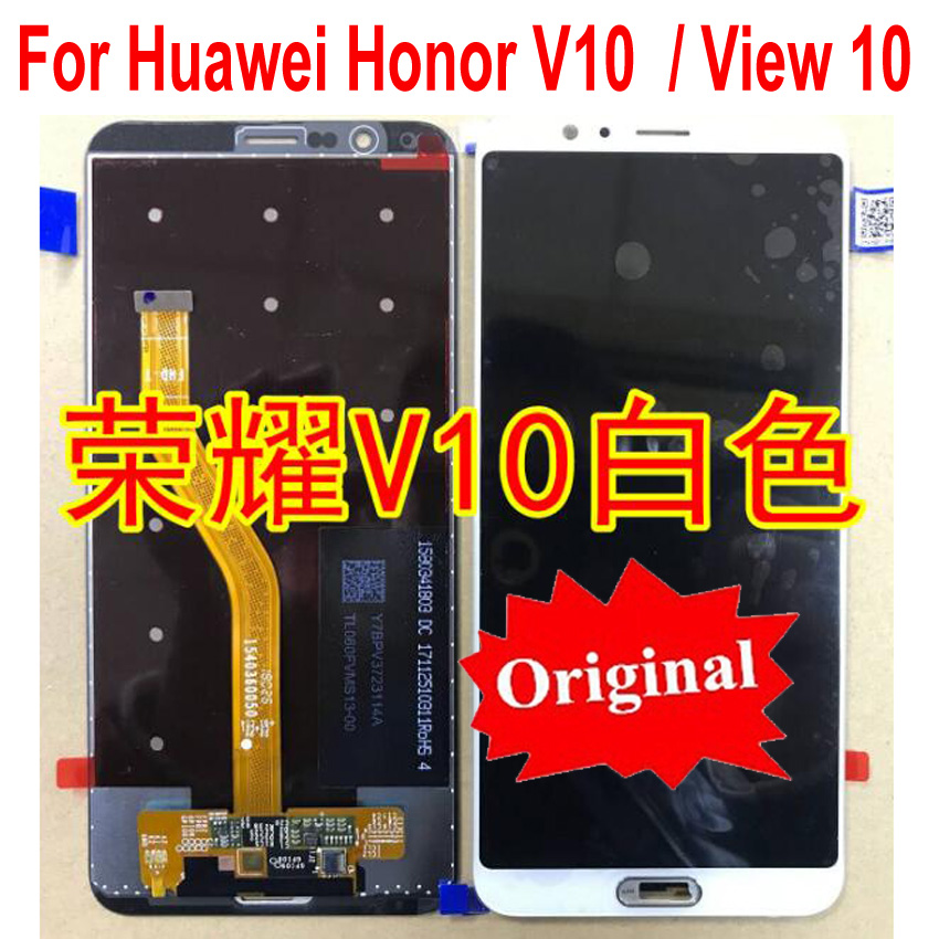 """100% Original LCD Display Glass Sensor Touch Screen Digitizer Assembly For Huawei Honor View 10 / Honor V10 5.99""""  Replacement-in Mobile Phone LCD Screens from Cellphones & Telecommunications    1"""