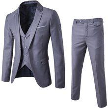 2020 ternos masculinos blazer magro negócios formal vestido colete noivo homem terno requintado weeding escritório conjunto fino blazer