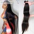 Накладные пряди из 100% человеческих волос QUEEN, 28, 30, 32, 34, 40 дюймов, бразильские пряди волос для плетения, прямые волосы класса 10А для наращивани...