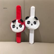 mini 7cm , small hand belt Plush Purse , mini panda kid's Plush Coin bag pouch purse