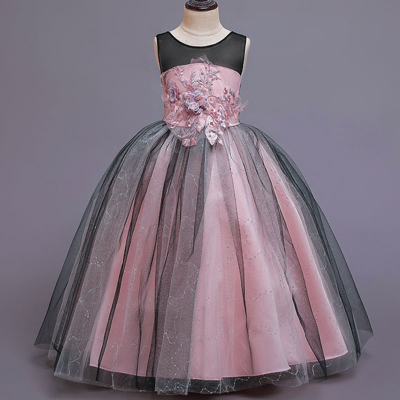 2019 Bridesmaid Flower Girl Evening Dress Wedding Dress Kids Costume For Girls Children Long Princess Dress 10 12 Years Vestidos