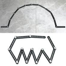 Règle de mesure multi-angle, outil de gabarit de recherche d'angle en alliage à 12 côtés, règle pliante à 12, outils de positionnement d'angle en bois, brique, carrelage
