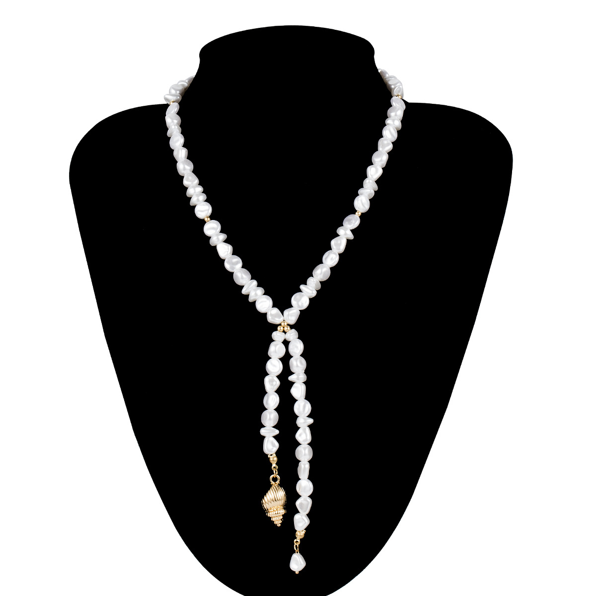 Simple Baroque Pearls Clavicle Chain Gold Color Conch Pendant Necklaces for Women 2019 Fashion Jewelry Necklace Female New