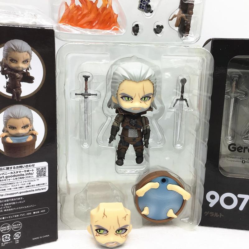 10cm Witcher-ed 3 Wild Hunt 907 Geralt White Wolf Geralt PVC Action Figures Model Toys Gift Doll For Fhildren