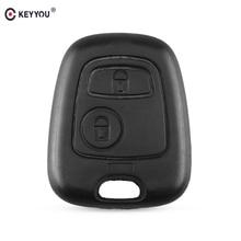 KEYYOU без лезвия 2 кнопки чехол для дистанционного ключа от машины оболочка брелок крышка для Citroen C1 C2 C3 C4 XSARA Picasso замена крышки