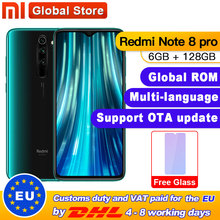 "Global ROM Xiaomi Redmiหมายเหตุ 8 Pro 6GB 128GB MTK Helio G90Tสมาร์ทโฟน 4500mAh 64MP Quadกล้องด้านหลัง 6.53 ""18W"
