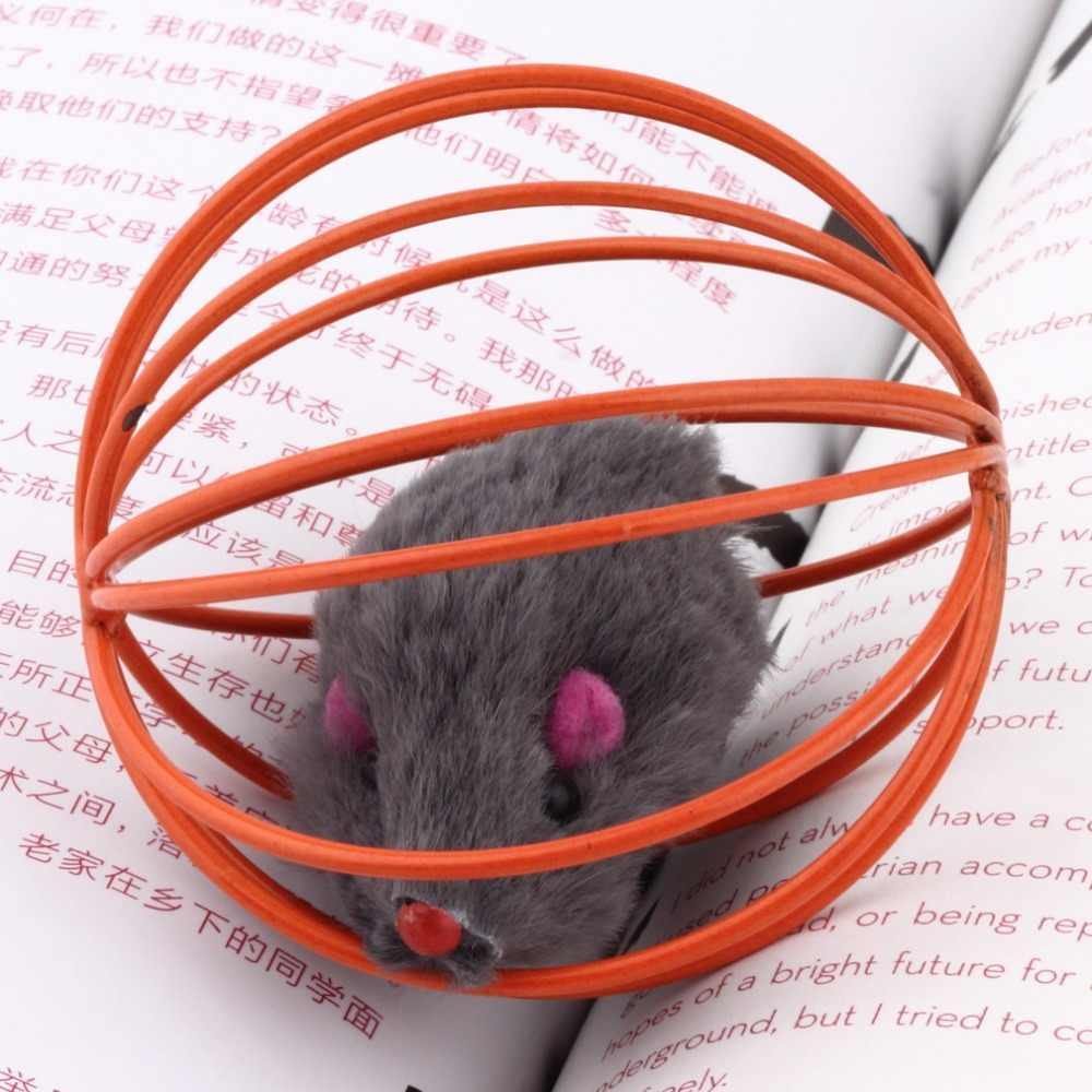 אקראי יפה כיף מתנה משחק צעצועי עכבר False עכברוש כלוב כדור עבור חיות מחמד חתול חתלתול פופולרי מצחיק לשחק צעצועים עכבר כדור הטוב ביותר מתנה