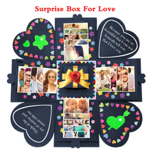 OurWarm DIY Surprise Love Explosion Box Gift Explosion for Anniversary Scrapbook DIY Photo Album birthday Valentine's Day Gift diy surprise love explosion box gift explosion for anniversary scrapbook diy photo album birthday gift 12x12x12cm