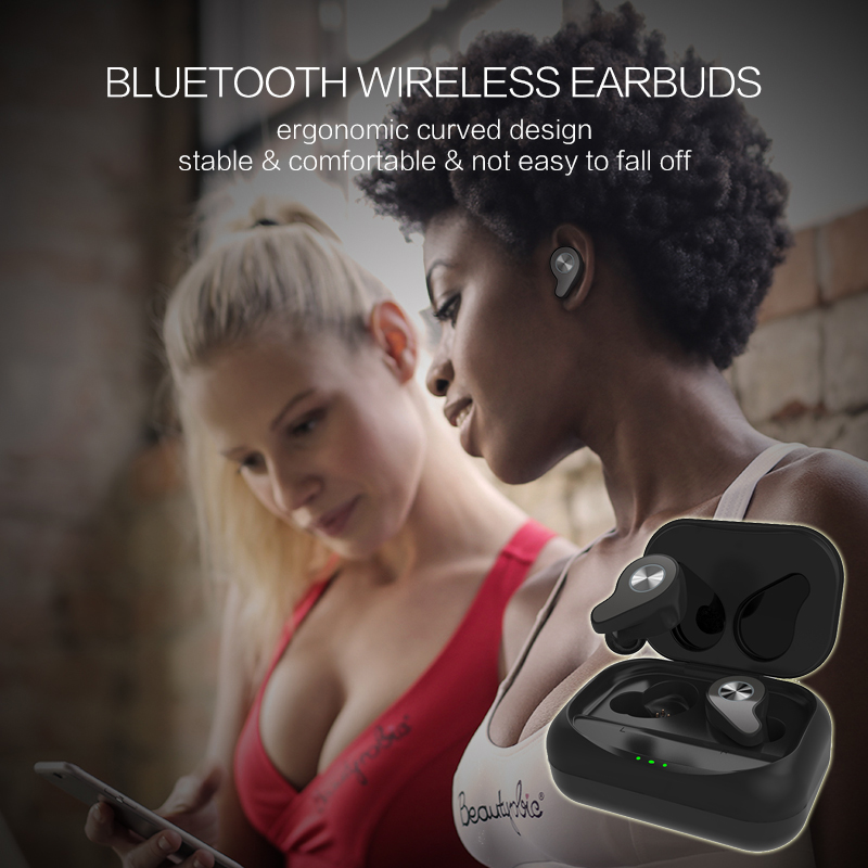 Newest HiFi Headphones Bluetooth 5.0 Wireless Earbuds Earphone Wireless Bluetooth Headphones Waterproof IP65 Stable Signal 15m