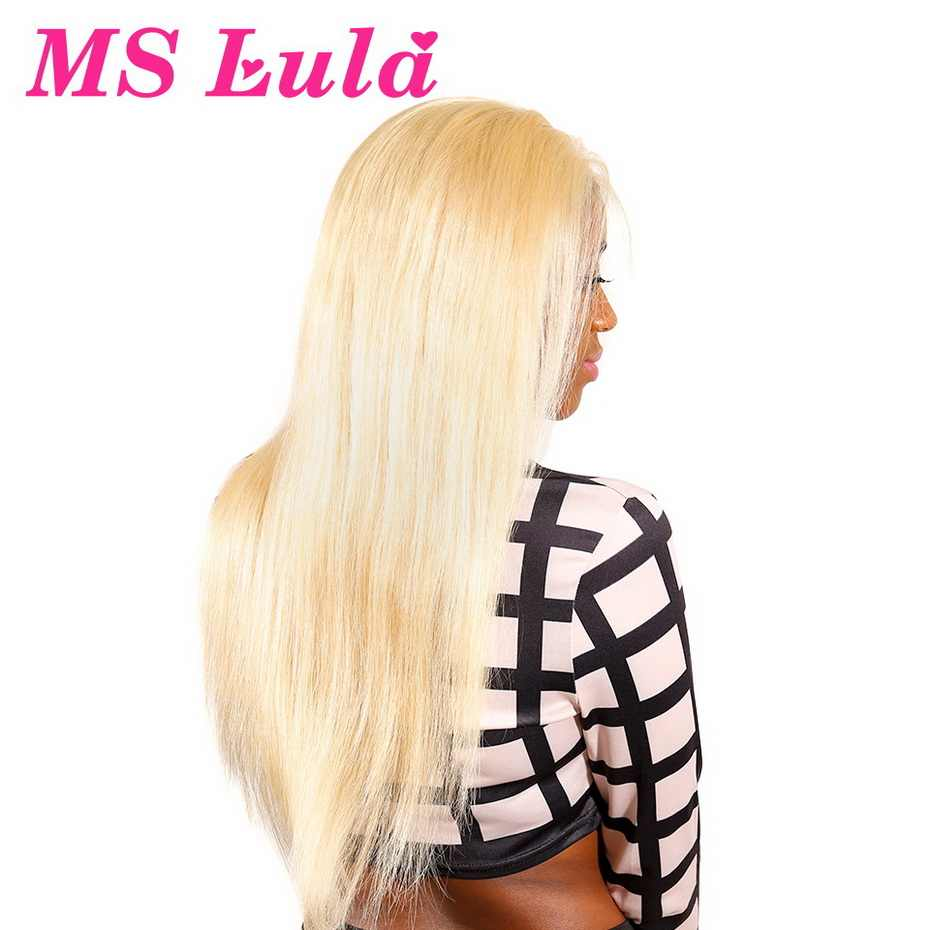 613 360 Lace Frontal Wig For Black Women Brazilian Remy Straight Hair 150% Pre Plucked Honey Blonde Colored Human Hair Wigs