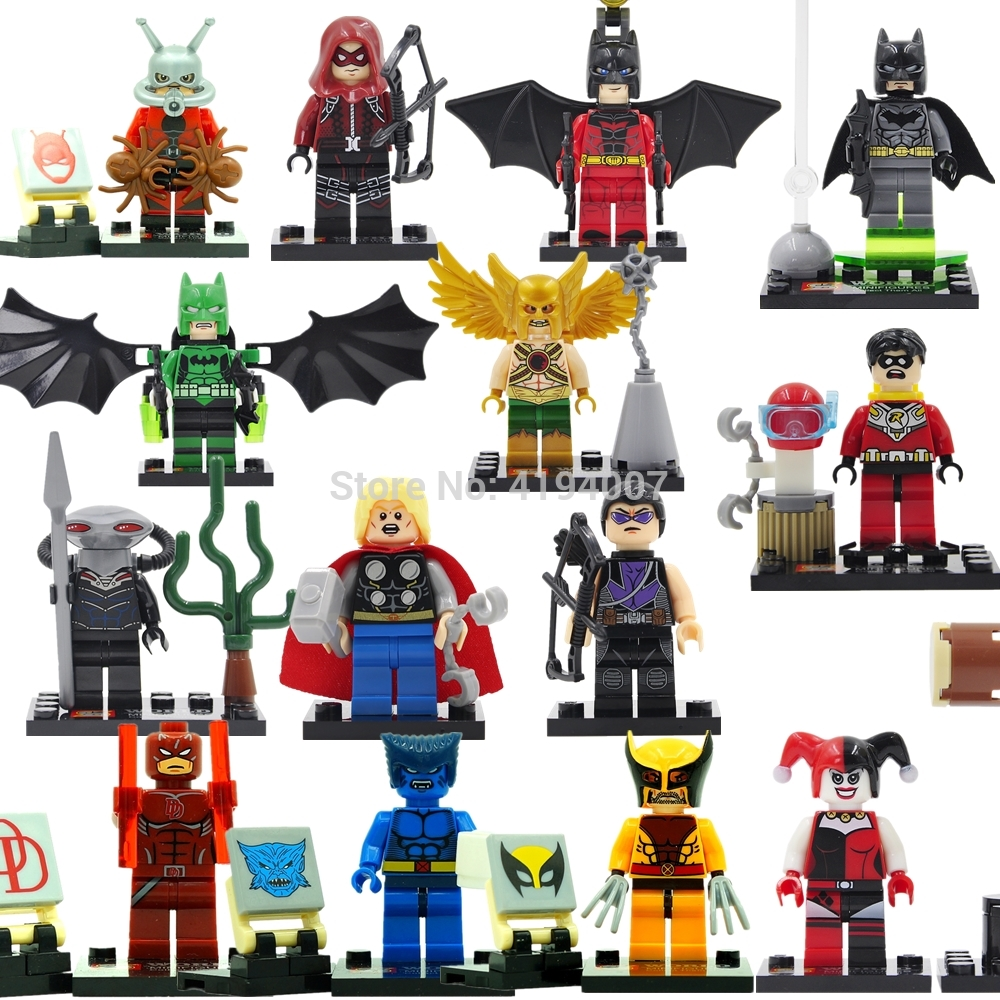 SY Single Sale Figure Super Hero Batman Robin Harly Quinn Aquaman Cyclops Catwoman Building Blocks Models Toys Legoing