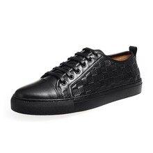 2020 Spring New Casual Shoes Men Retro Punk Plaid Footwear Top