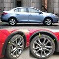 4 шт.  универсальный автомобильный Грузовик  углеродное волокно  резиновое колесо  защита для бровей  наклейка для губ  отделка  крыло  вспышк...