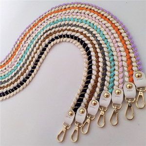 Candy Color Woven Bag Strap 80/100/120cm Replacement Braided Shoulder Bag Strap High Quality Rope Bag Accessories Purse Strap