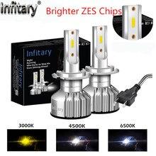 Infitary ZES Chips H4 H7 12000LM Led Faróis Do Carro 3000K 4500K 6500K H1 H3 H11 H13 HB3 HB4 9004 9007 Auto Luz de Nevoeiro Lâmpadas