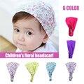 Детская шапка с цветочным принтом, хлопковая кепка для мальчиков и девочек, повязка на голову, головной убор для малышей, аксессуары для нов...
