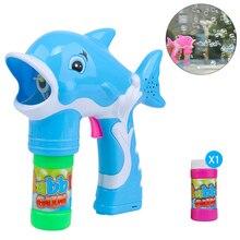 Bubbles Toy with Light Music Bubble Electric Dolphin Bubble Machine 2019 Summer New Bubble gun Cute Children