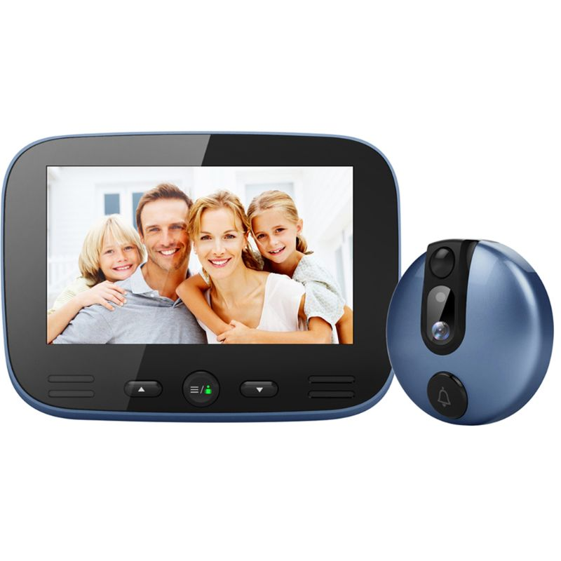 4.3 Inch LCD Colorful Screen Video Doorbell Camera Viewer Smart Electronic Cat Eye Peehole For Night Vision Motion Detection
