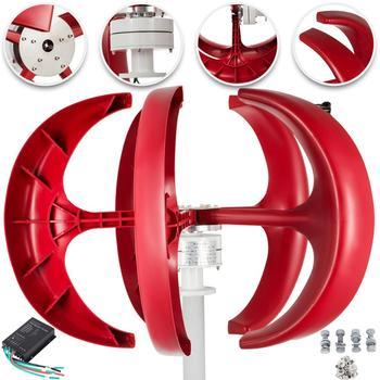 VEVOR turbina wiatrowa 200W 12 V 24 V Generator turbin wiatrowych czerwona latarnia pionowy Generator wiatrowy 5 liści z kontrolerem tanie i dobre opinie iron Wind Power Generator Bez Podstawy Montażowej 12 24V DC Electromagnetic 11 m s 2 m s -40℃-80℃ 0 9 m (2 95 ft) Nylon fiber