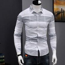 Quality Formal Plaid Gray Shirt Men Casual Long Sl