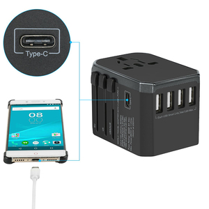 Image 3 - Pd 18W Internationale Universele Travel Adapter 4 Poorten Usb Charger Muur Elektrische Stekkers Sockets Converter Eu Vs Uk Au plug