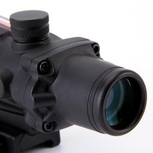 Image 3 - Arme de chasse Chevron ACOG 4X32, véritable Fiber optique, objectif rouge vert, verre illuminé réticule de tactique, vue optique