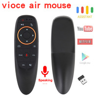 Control remoto por voz G10 G10S Pro, 2,4G, giroscopio inalámbrico para Android TV Box, HK1 H96 Max X96