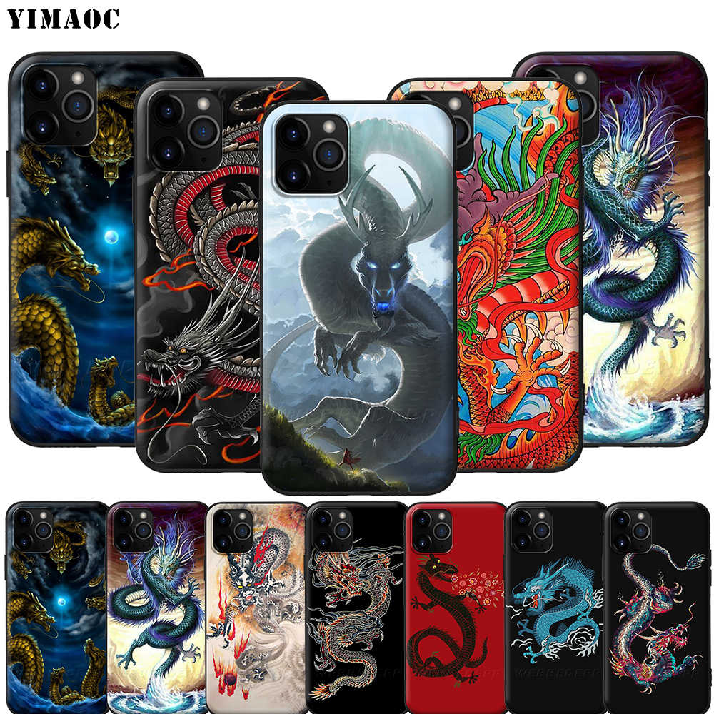 Yimaoc Chinese Draak Siliconen Zachte Case Voor Iphone 11 Pro Xs Max Xr X 8 7 6 6S Plus 5 5S Se