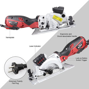 Image 5 - NEWONE Electric Mini Circular Saw With Laser For Cut Wood,PVC tube,15pcs Discs, 230V Multifunctional Electric Saw DIY Power Tool