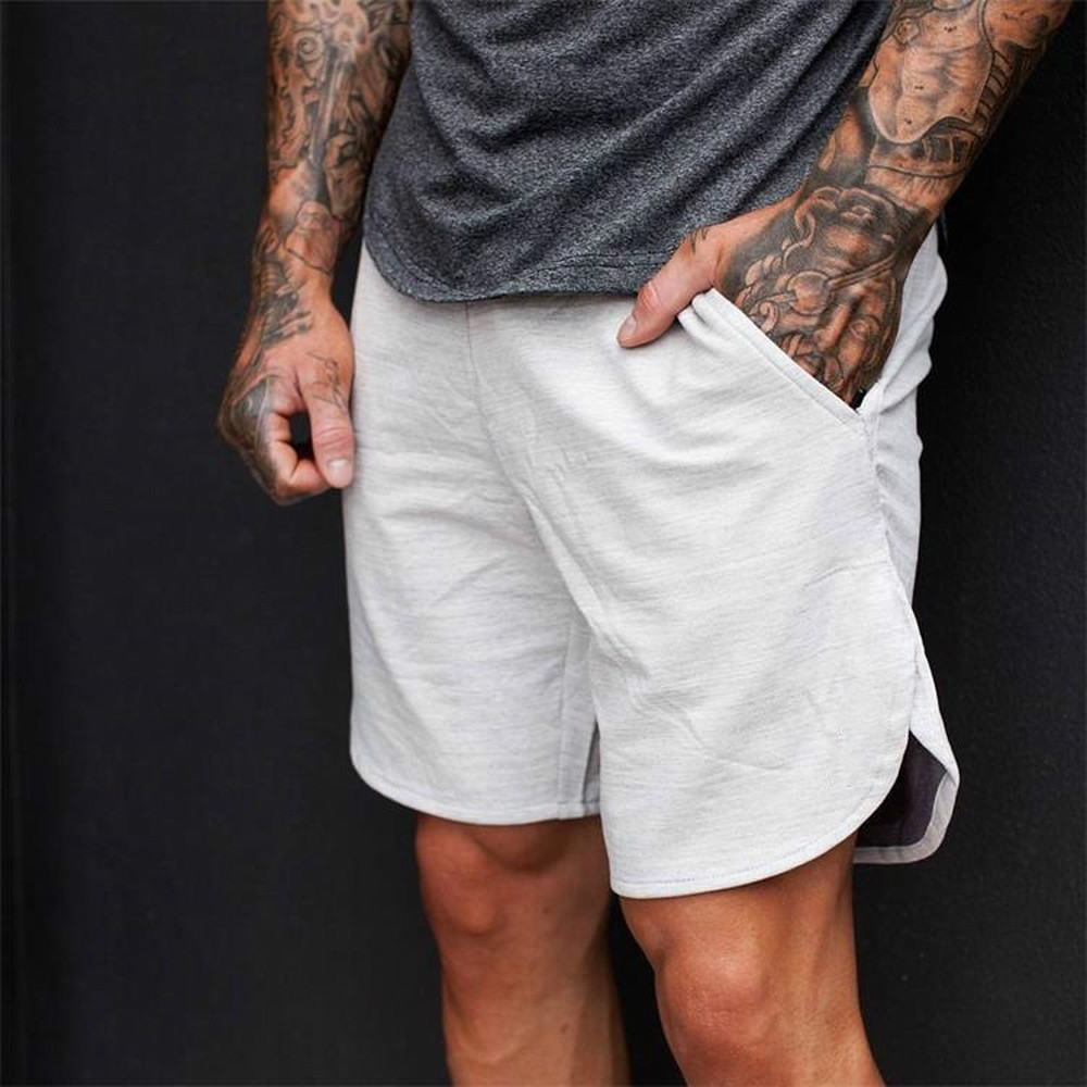 Casual Men Cotton   Shorts   For Sports Beach   Board   Men Quick Drying Summer Solid Polyester New   Board     shorts   Plus Size sweatpants