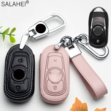 Leather Car Key Case Cover For Buick Envision Vervno GS GX GL6 20T 28T Encore NEW LACROSSE Opel Vauxhall Astra k Corsa E 2020