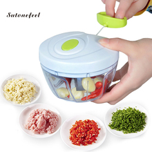Rápido chopper manual processadores de alimentos carne vegetal cortador manual plástico picador ferramentas cozinha